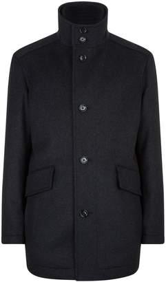 HUGO BOSS Wool Layered Coat