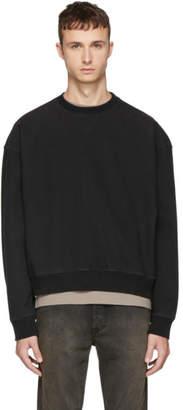 Unravel Black Oversized Crewneck Sweatshirt