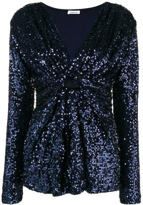 P.A.R.O.S.H. ruched sequin top