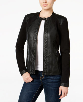 Style & Co. Mixed-Media Faux-Leather Jacket, Only at Macy's $89.50 thestylecure.com