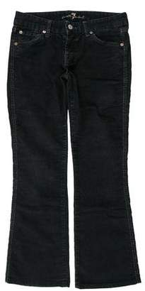 7 For All Mankind Low-Rise Pants