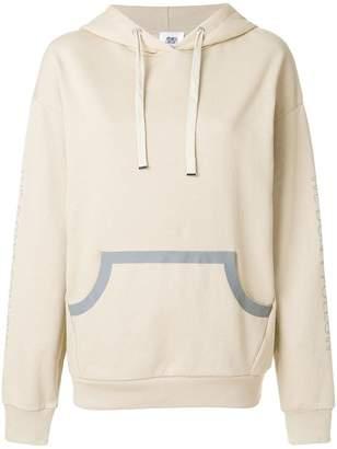 Closed slogan sleeve hoodie