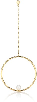Anissa Kermiche Rondeur Perlee Chain 14kt gold and pearl single earring