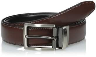 Dockers 1 4 Inch Feathered Edge Reversible Belt with Stitch