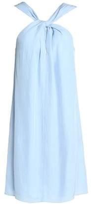 Rag & Bone Twist-Front Twill Dress