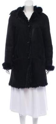 Gucci Shearling Knee-Length Coat