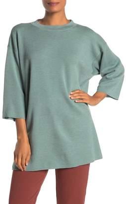 Eileen Fisher 3/4 Sleeve Wool Tunic Sweater