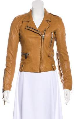 Barbara Bui Leather Fringe Jacket