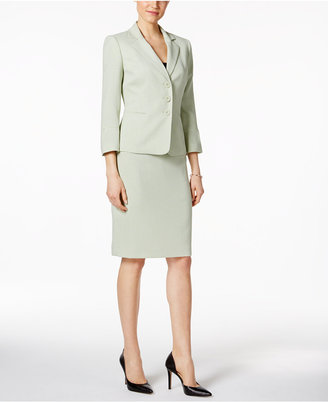 Le Suit Tweed Three-Button Skirt Suit $200 thestylecure.com
