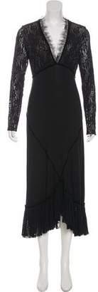 Fuzzi Long Sleeve Maxi Dress