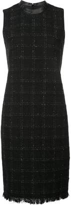 Akris Punto checked fitted dress