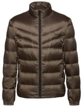 HUGO Regular-fit water-repellent down jacket with reverse logos