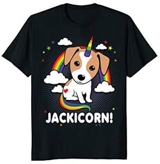 Mens Jack Russell Terrier T-Shirt Jackicorn Unicorn Shirt Small