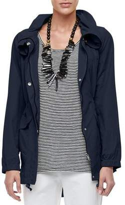 Eileen Fisher High-Collar Weather-Resistant Utility Jacket $238 thestylecure.com