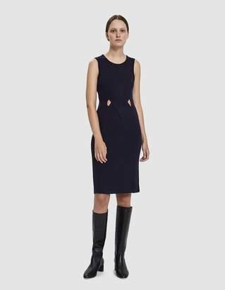 Which We Want Sara Sleeveless Rib Knit Dress in Dark Navy