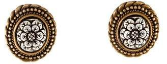 Stephen Dweck Two-Tone Floral Clip-On Earrings