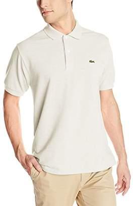 Lacoste Men's Short Sleeve Classic Pique L.12.12 Original Fit Polo Shirt,Silver/Grey Chine,8