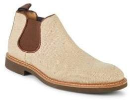 Paul Stuart Woven Round-Toe Chelsea Boots