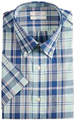 Croft & Barrow Big & Tall Classic-Fit Easy-Care Button-Down Collar Short-Sleeved Dress Shirt