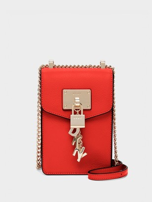 DKNY Elissa Pebbled Leather North South Crossbody