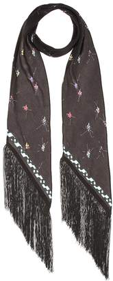 Rockins Fleur De Pop Classic Skinny silk scarf