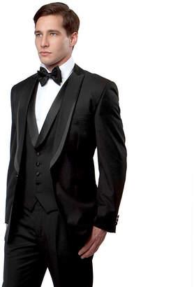 TAZIO Men's 3-PC Slim Fit Tuxedo