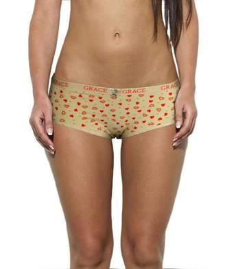 Grace Womens 6 Pack Heart Printed Cotton Briefs Panties Color