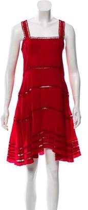 Opening Ceremony Silk Lace Trimmed Dress