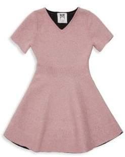 Milly Minis Little Girl's& Girl's Metallic Dress