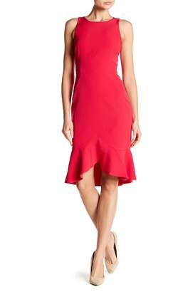 London Times Solid Dream Ruffle Hem Dress
