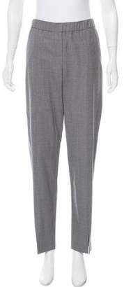 Halston Wool Mid-Rise Pants