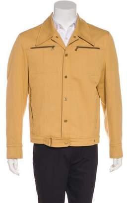 Versace Woven Snap Jacket
