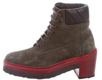 Pierre Hardy Suede Lace-Up Boots