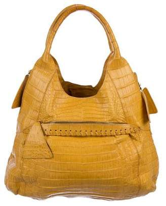 b5a408b8ac71 Pre-Owned at TheRealReal · Nancy Gonzalez Crocodile Whipstitch Hobo