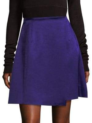 Diane von Furstenberg Hi-Rise Velvet Flared Skirt