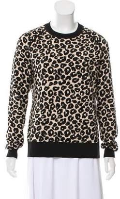 Iris & Ink Leopard Long Sleeve Sweater