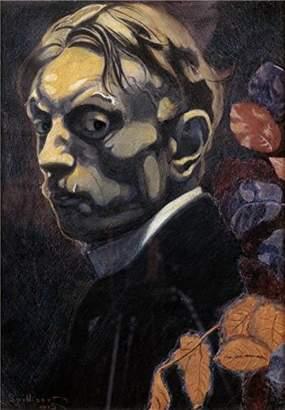 Leon Oil Paintings Canvas Prints Canvas Prints Of Oil Painting ' Spilliaert - Self Portrait, 20th Century '