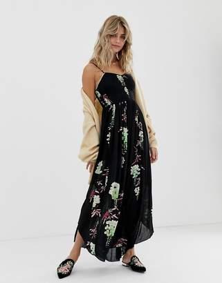 Free People Beau floral printed midi dress