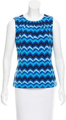 Calvin Klein Collection Printed Sleeveless Top