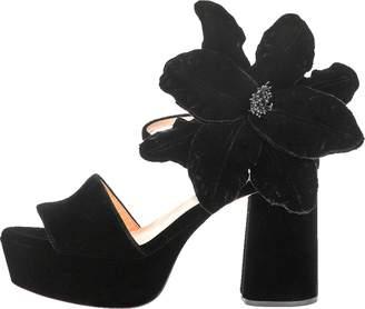Rochas Velvet Chunky Sandal