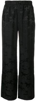 Ganni horse pattern trousers