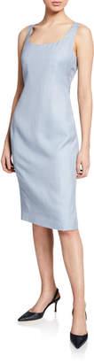 Kiton Lightweight Tweed Sheath Dress
