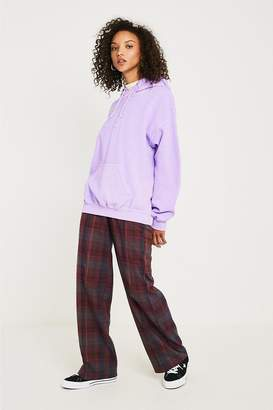 Urban Outfitters Plaid High-Waisted Puddle Pant