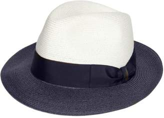 Borsalino Two Tone Medium Brim Hemp Hat