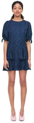 Rebecca Taylor Speckled Dot Silk Jacquard Dress