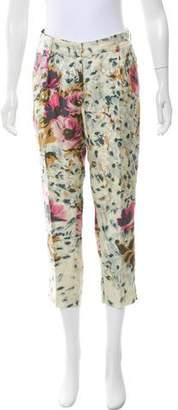 By Malene Birger Silk Floral Straight-Leg Pants