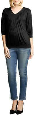 Maternal America Ruched Dolman Top