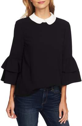 CeCe Peter Pan Collar Ruffle Sleeve Blouse