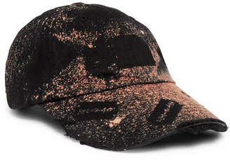99% Is 99%Is Distressed Spray-Painted Cotton-Twill Baseball Cap