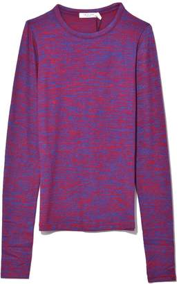 Rag & Bone Slim Long Sleeve Tee in Red/Blu Multi